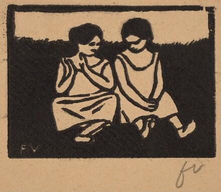 Two Girls in Chemises (Deux fillettes en chemise)