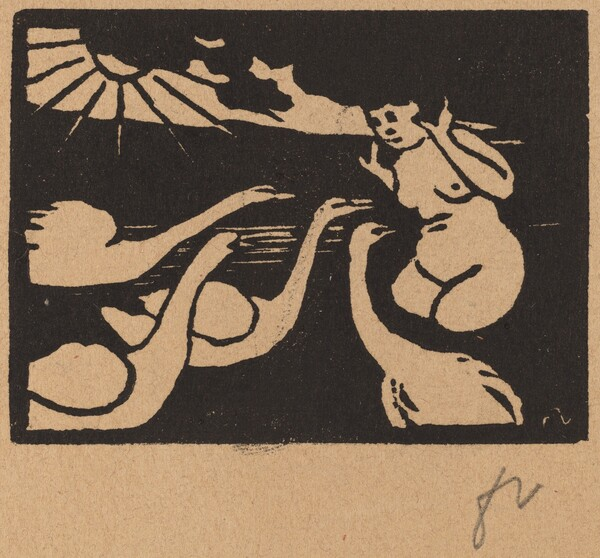 Bather with Swans (La baigneuse aux cygnes)
