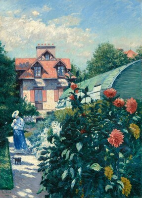 Dahlias, Garden at Petit Gennevilliers