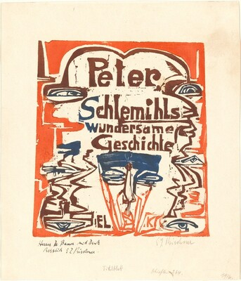 Peter Schlemihls wundersame Geschichte (Peter Schlemihl's Wondrous Story) (Title Page)