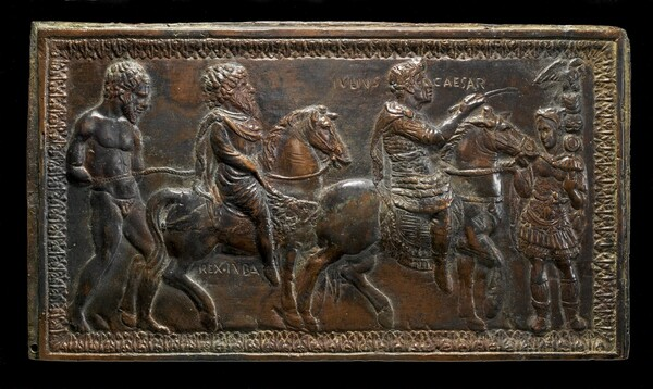 King Juba I of Numidia Led in Triumph by Julius Caesar
