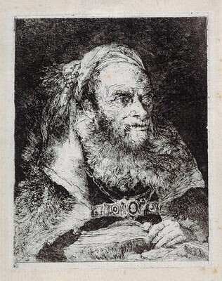 Old Man with an Open Book