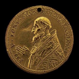Pius V (Antonio Ghislieri, 1504-1572), Pope 1566 [obverse]