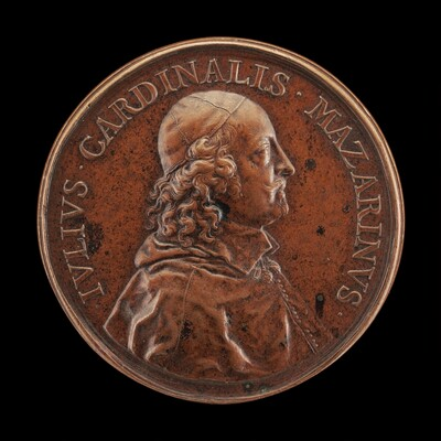 Cardinal Jules Mazarin, 1602-1661, Prime Minister of France 1643 [obverse]
