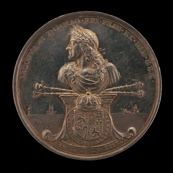 James II, 1633-1701, King of England 1685-1688 [obverse]