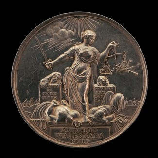 Beheading of James Scott, Duke of Monmouth, and Archibald Campbell, 9th Earl of Argyll [reverse]