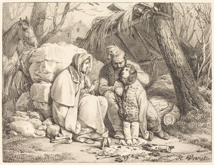Soldier's Family Encamped