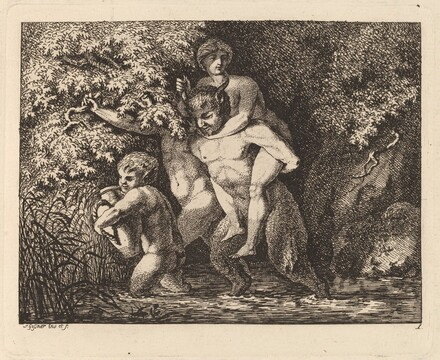 Satyr Carrying a Nymph on His Back