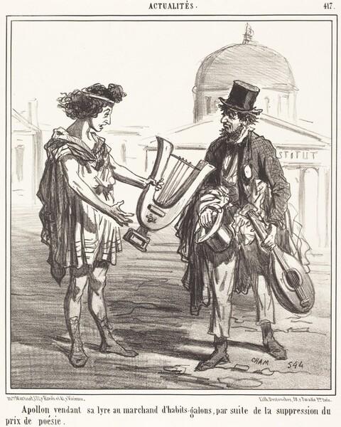 Apollon vendant sa lyre