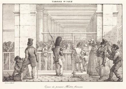 Queue du premier Theâtre français