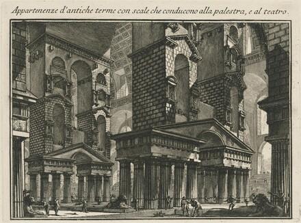 Appartenenze d'antiche terme con scale che conducono alla palestar, e al teatro
