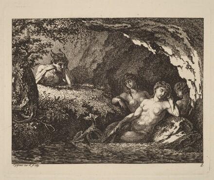 Three Sleeping Sprites with a Satyr