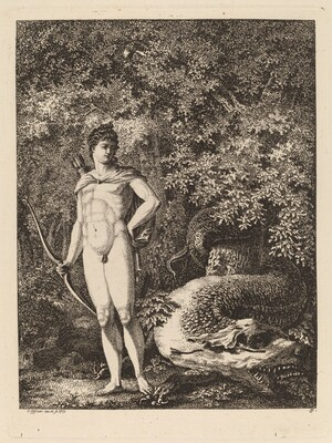 Apollo with a Bow and Dragon