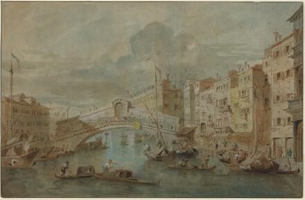 View of the Rialto Bridge, Venice