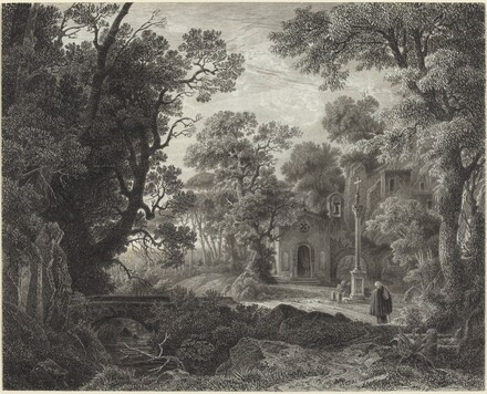 A Woodland Chapel at Evening