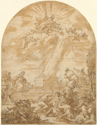 The Sacrifice of Elijah before King Ahab