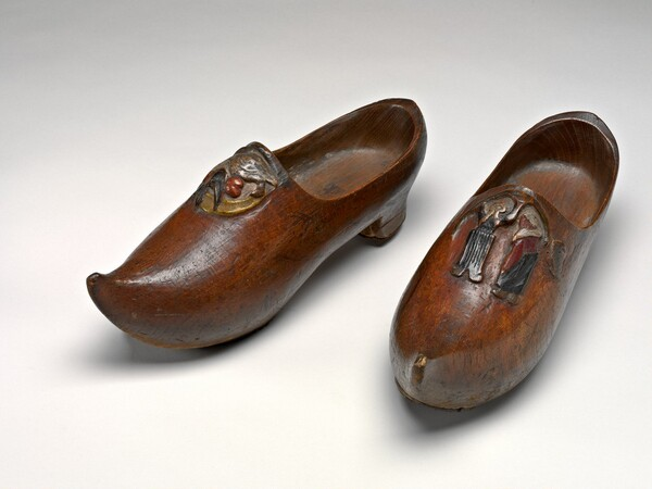 Pair of Wooden Shoes (Sabots) [left]
