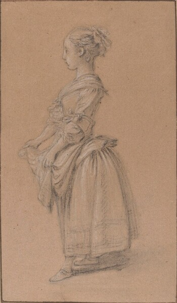 A Girl in Peasant Dress