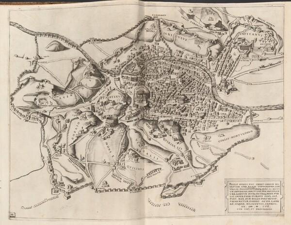 Topographical Map of Ancient Rome