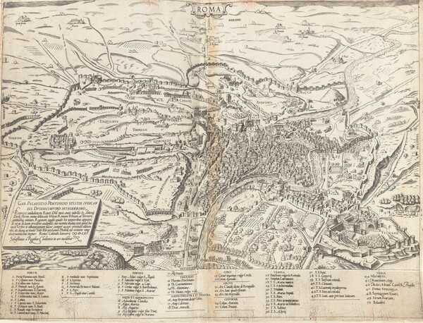 Topographical Map of Modern Rome