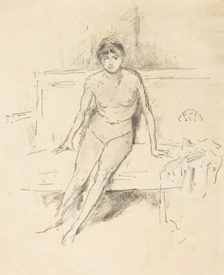 Nude Model on an Empire Sofa