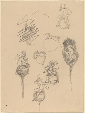 Studies for Jewelry Designs [recto]