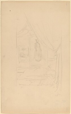 Sketch of Mrs. Godwin's Portrait when hung at the Society of British Artists