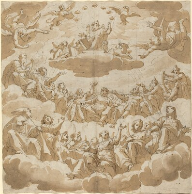 God Enthroned Surrounded by Saints