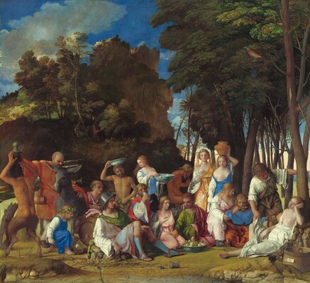 Giovanni Bellini, Titian, The Feast of the Gods, 1514/1529
