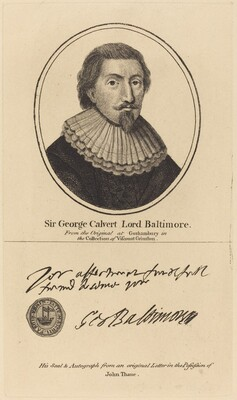 Sir George Calvert, Lord Baltimore