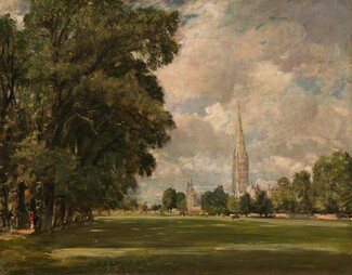 John Constable, Salisbury Cathedral from Lower Marsh Close, 18201820