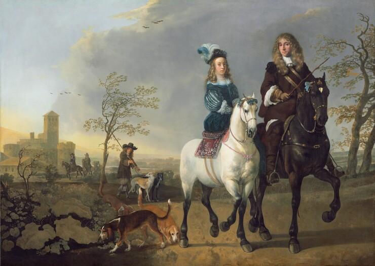 Lady and Gentleman on Horseback