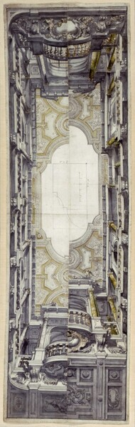 Presentation Drawing for the Ceiling Fresco of the Ognissanti