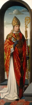 The Saint Anne Altarpiece: Saint Nicholas [left panel]