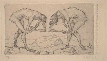 Zwei Männer, einander in höherer Stellung vermutend, begegnen sich (Two Men Meet, Each Believing the Other to Be of Higher Rank