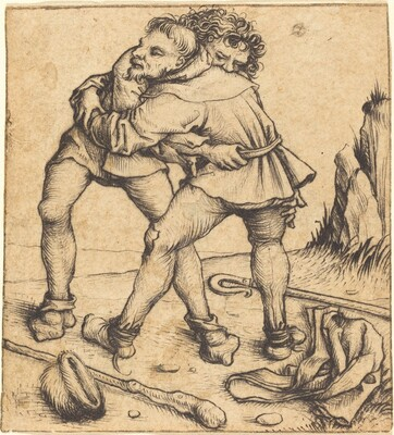 Two Peasants Fighting