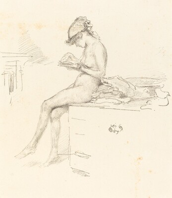 The Little Nude Model Reading