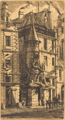 Tourelle de la Rue de la Tixéranderie, Paris (House with a Turret, Weavers' Street, Paris)