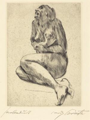 Crouching Female Nude