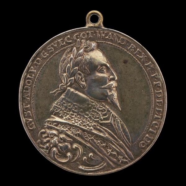 Gustavus II Adolphus, 1594-1632, King of Sweden 1611 [obverse]
