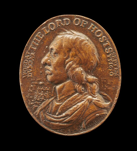 Oliver Cromwell, Commemorating the Victory at the Battle of Dunbar [obverse]