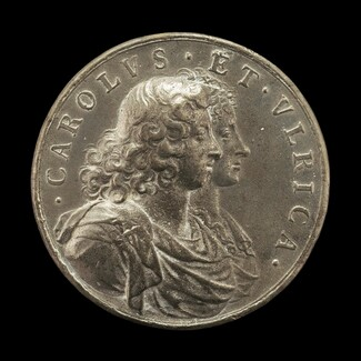 Charles XI, 1655-1697, King of Sweden 1660, and Ulrica Leonora of Denmark, d. 1693, Queen of Sweden 1680 [obverse]