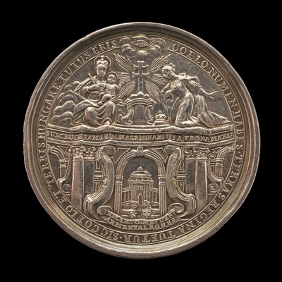 Queen Maria Theresa of Austria Kneeling in front of the Virgin while Receiving the Hungarians' Oath of Allegiance [obverse]