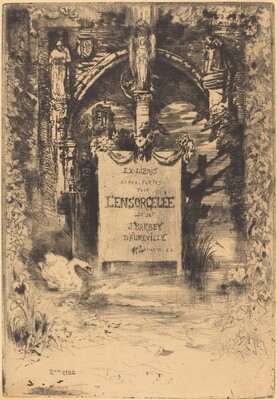 Ex-Libris pour L'Ensorcelée (Bookplate for L'Ensorcelée)