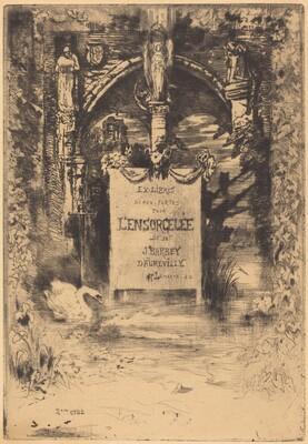 Ex-Libris pour L'Ensorcelée (Bookplate for L'Ensorcelée)