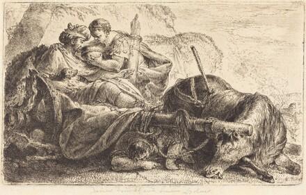Darius Receiving Water from the Helmet of One of Alexander's Soldiers