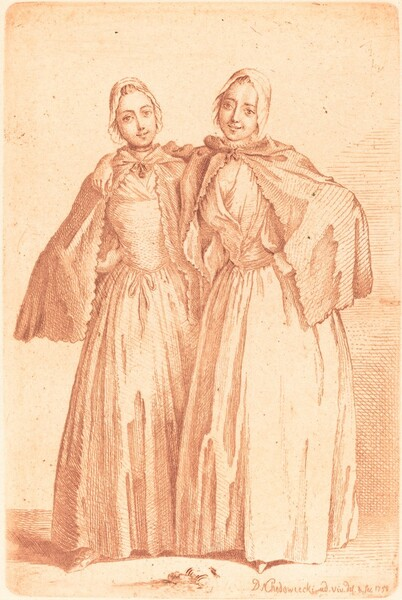 Two Standing Ladies (Demoiselles Quantin)