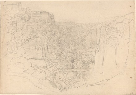 Fortified Castle Above a Narrow Valley