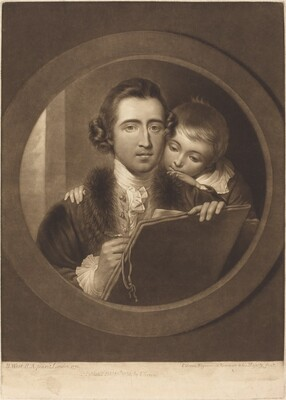 Benjamin West, Esqr R.A. and His Son RI West