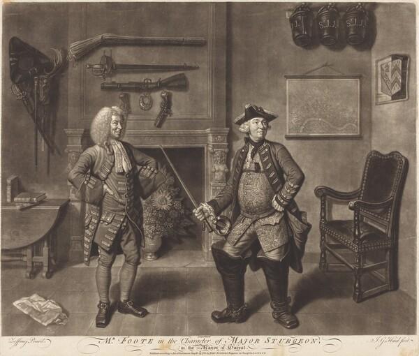 Mr. Foote in the Character of Major Sturgeon, in the Mayor of Garrat